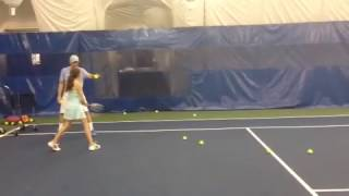 Girl Hits Coach in Groin with Tennis Racket