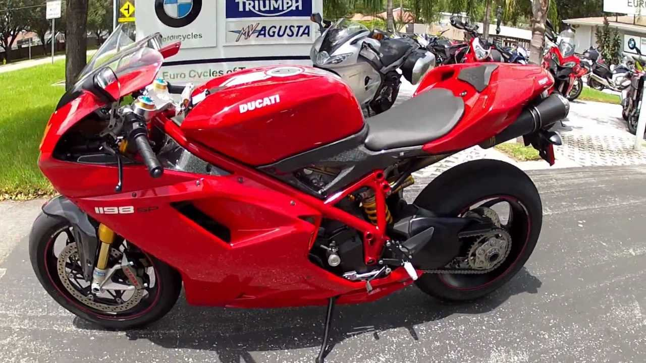 2011 ducati 1198 sp red at euro cycles of tampa bay - youtube