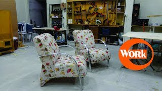 Concluindo as poltronas/ Finishing the construction of the armchairs