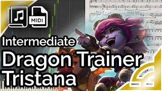 Dragon Trainer Tristana [simplified: intermediate] - League of Legends (Synthesia Piano Tutorial)