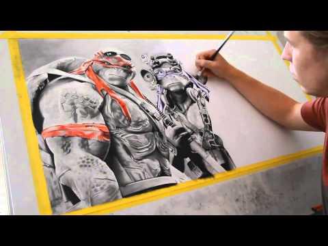 Teenage Mutant Ninja Turtles Timelapse Drawing