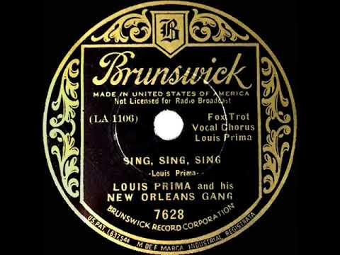 1st RECORDING OF: Sing, Sing, Sing - Louis Prima (1936 version--Louis Prima, vocal) mp3