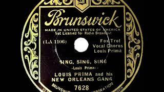 1st RECORDING OF: Sing, Sing, Sing - Louis Prima (1936 version--Louis Prima, vocal)