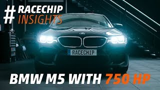 New BMW M5 F90 2018 tuned to 750 HP dyno + acceleration test // RaceChip Insights