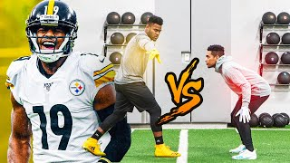 1ON1'S VS TOP NFL PLAYER! (JUJU VS DOCKERY) *EXPOSED* CRAZIEST WR VS DB