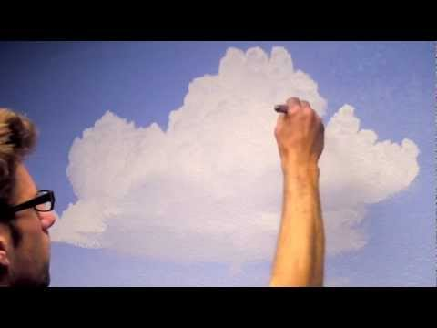 How to Paint Clouds in a Room - Mural Joe