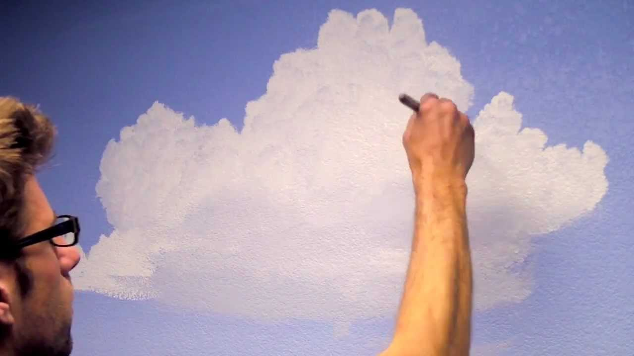 How to Paint Clouds in a Room  Mural Joe  YouTube