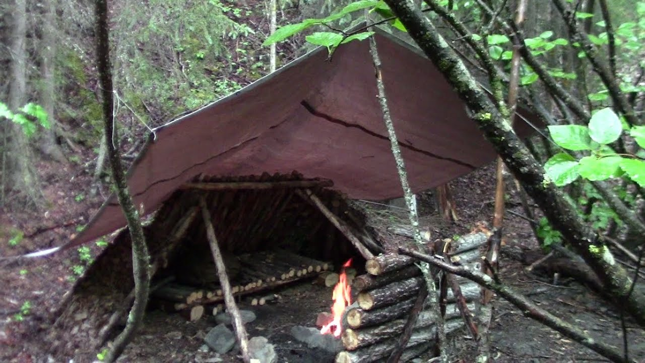 Protecting A Campfire From The Rain Youtube