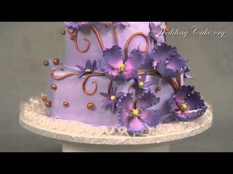 Elegant Purple Wedding Cake Purple Passion Wedding Cake Luv