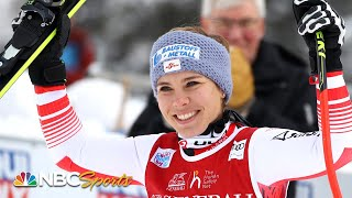 Mikaela Shiffrin and Nicole Schmidhofer battle for Lake Louise downhill crown | NBC Sports