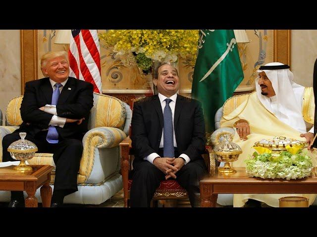 اغرب ما تم تصويرة فى لقاء | دونلد ترامب والعاهل السعودي | سوف تصاب بالدهشة مما تشاهدة