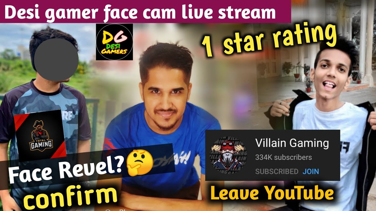 Total Gaming confirm face Revel? || villain Gaming leave YouTube || Desi gamer live with face cam