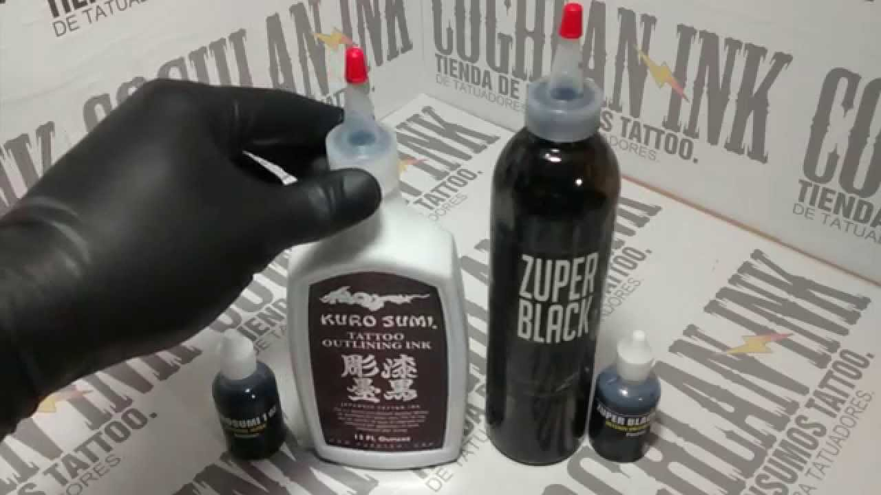 Tinta tattoo kuro sumi para lineas y zuper black para for Zuper black tattoo ink intenze