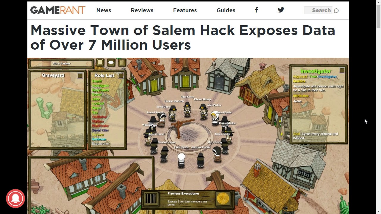 Town of Salem Hack Exposes All Users' Data
