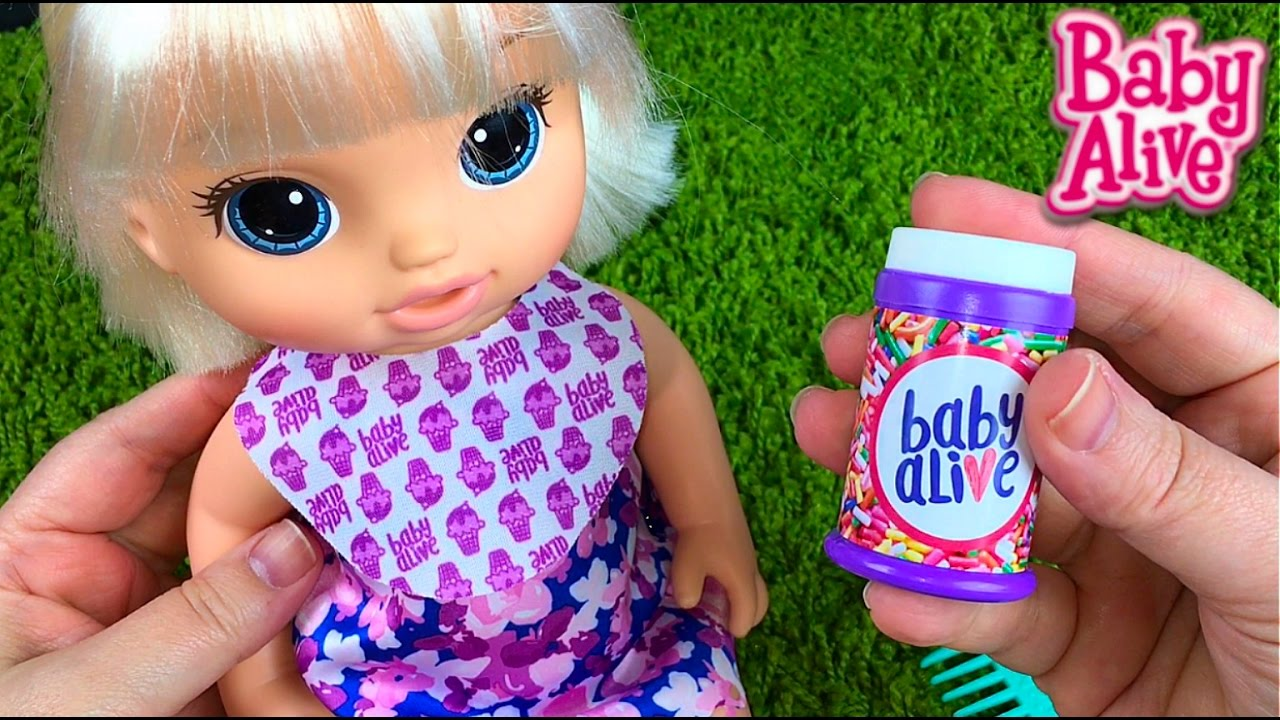 New Blonde Baby Alive Magical Scoops Baby Doll Opening