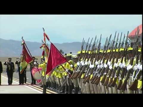 Llegada del presidente de la República a Sucre