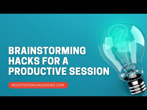 Brainstorming Hacks For A Productive Session