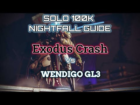Repeat Destiny 2 Solo 100K Nightfall Guide: Exodus Crash by
