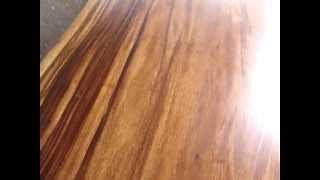 Dining Table Thai Acacia Wood Solid Slab Natural Free Form With Live Edges .mpg