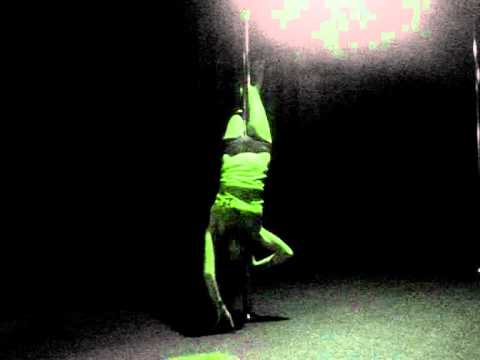 Pole dance moves practice on spinning pole - YouTube