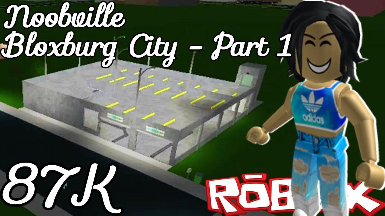 Bloxburg City Part 1 Parking Garage Speed Build Youtube