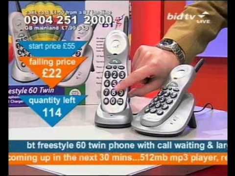 Andy Hodgson sells BT Freestyle telephones on Bid TV