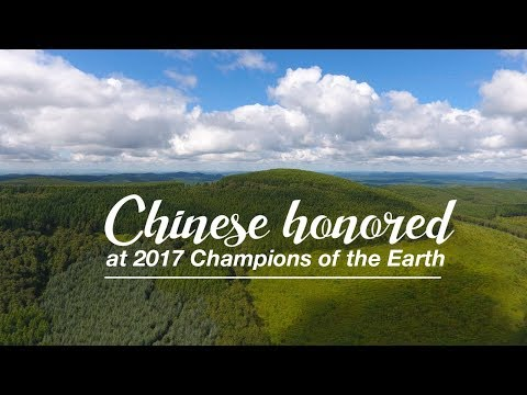 Live: Chinese honored at 2017 Champions of the Earth 中国环保英雄获2017地球卫士奖