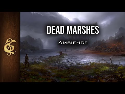 🎧 RPG / D&D Ambience - Dead Marshes | Danger, Immersive, Creatures Lurking, Realistic, Fantasy