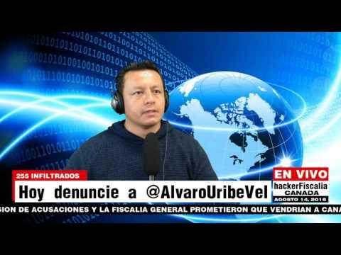 YA #ENVIVO #LIVE @hackerFiscalia ratifico denuncia en contra de @AlvaroUribeVel