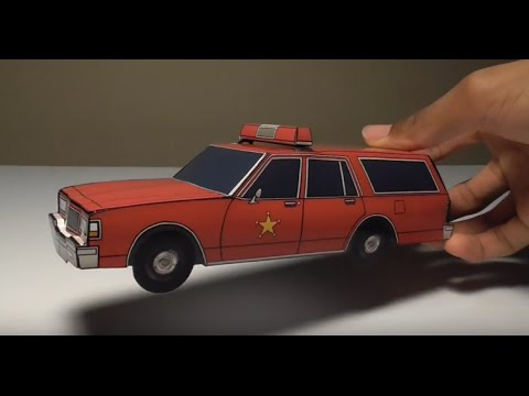 JCARWIL PAPERCRAFT 1987 Chevy Caprice 9C1 Fire Wagon ...