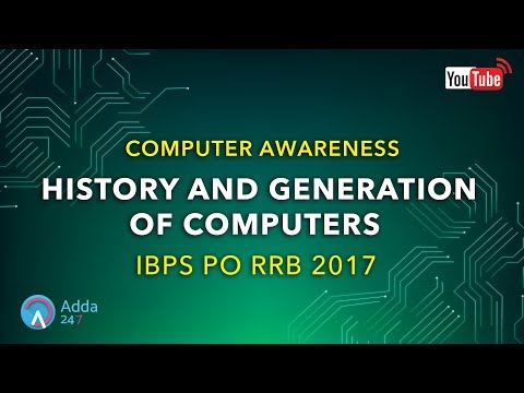 IBPS RRB PO | History and Generation Of Computers | Computer Awareness |  Online Coaching for SBI