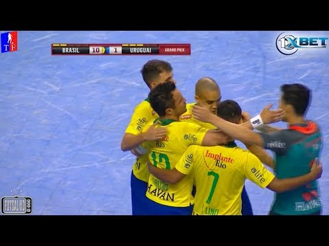 Gols Brasil 10 x 1 Uruguai - Grand Prix Internacional de Futsal 2018 (30/01/2018)