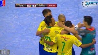 Gols Brasil 10 x 1 Uruguai - 1ª Rodada Grand Prix Internacional de Futsal 2018 (30/01/2018)