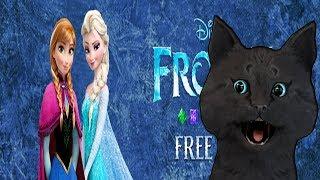 ХОЛОДНОЕ СЕРДЦЕ С ГОВОРЯЩИМ СУПЕР КОТОМ № 2 ( ИГРА для ДЕТЕЙ ) Frozen Free Fall: Snowball Fight