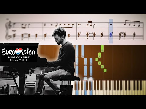Duncan Laurence - Arcade - The Netherlands 🇳🇱 - Eurovision 2019 - Piano Tutorial + SHEETS
