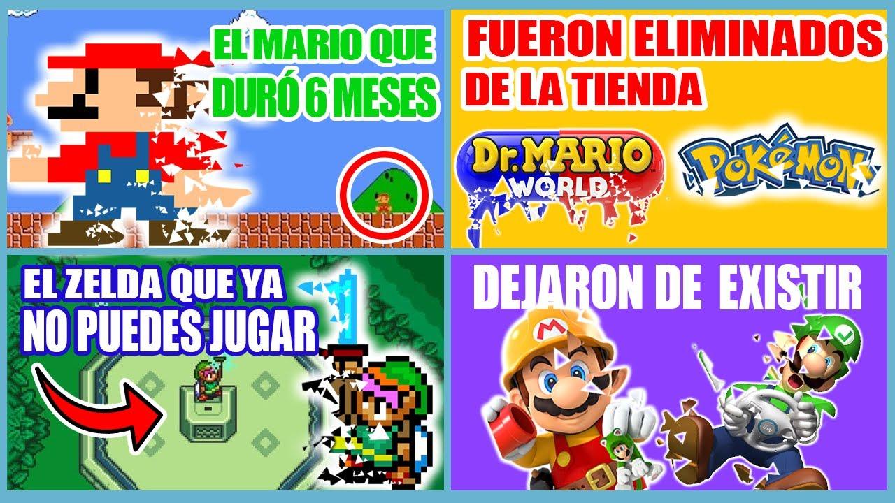JUEGOS de Nintendo que DEJARON DE EXISTIR y YA NO PUEDES JUGAR (Wii - Switch - 3DS) | N Deluxe