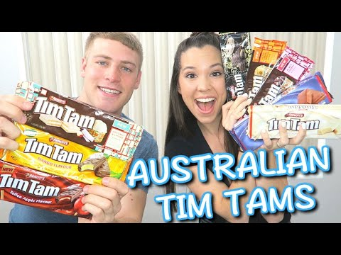 Trying Australian Tim Tams