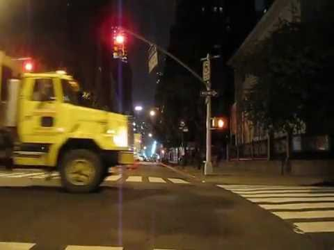 Cycling in New York: Madison Av from 23 St till 113th St by night
