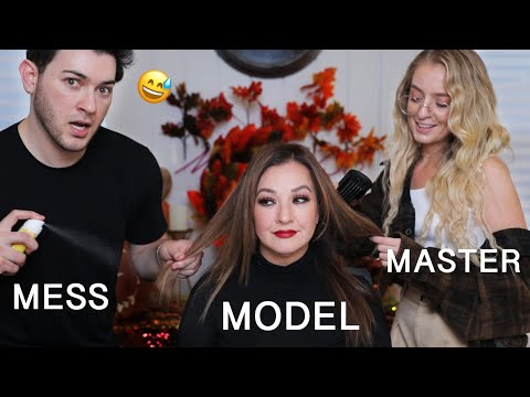 Hairdresser Reacts to Me Doing My Moms Hair... Its A Disaster thumbnail