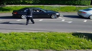 CCTV: Woman dodges gunman's shots