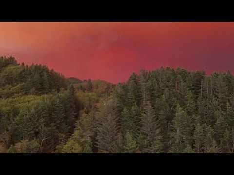 CHETCO BAR FIRE: Dramatic Smoky Skies