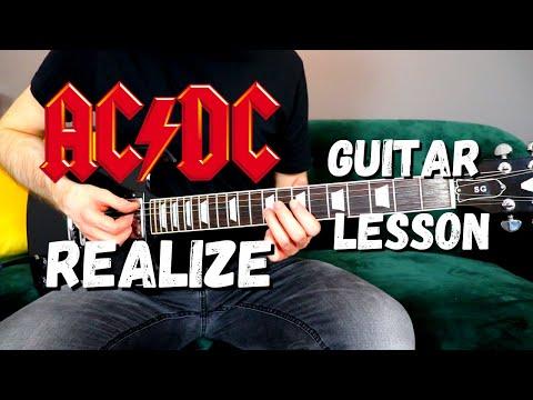 AC/DC - Realize Guitar Lesson - All Main Guitar Parts