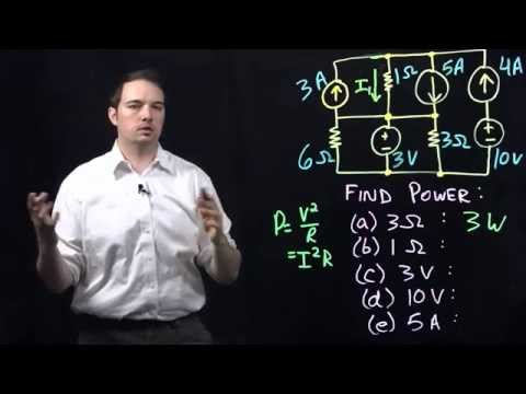 Circuits I: Example with Power Calculations