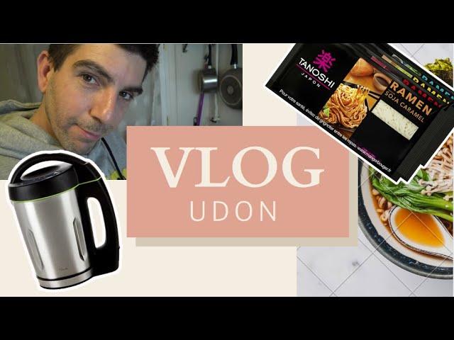 Vlog : Faire un UDON avec le KIT TANOSHI + la machine à soupe DOMO SOEPMAKER