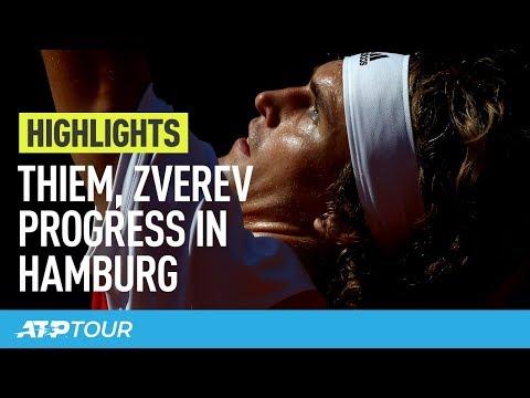 Thiem & Zverev Cruise In Hamburg | HIGHLIGHTS | ATP