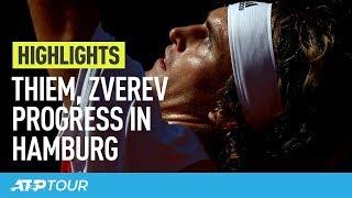 Thiem & Zverev Cruise In Hamburg   HIGHLIGHTS   ATP