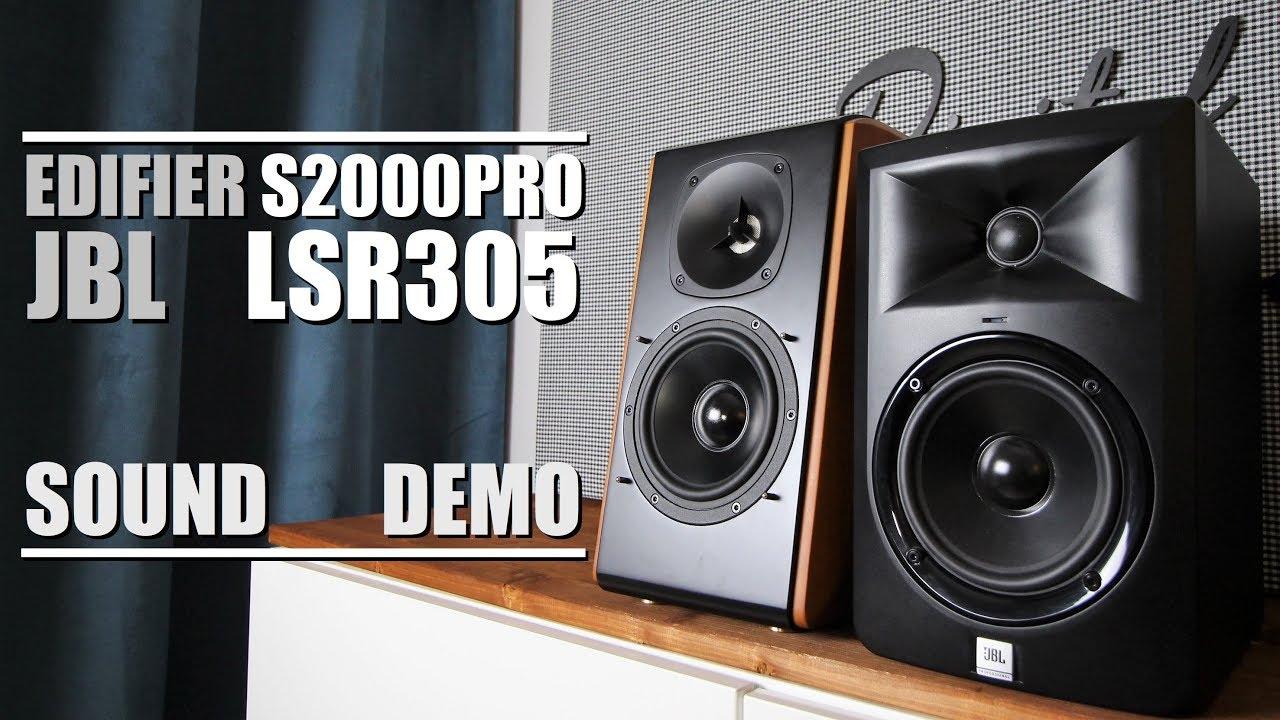 Edifier S2000 Pro vs JBL LSR305  ||  Sound Demo w/ Bass Test