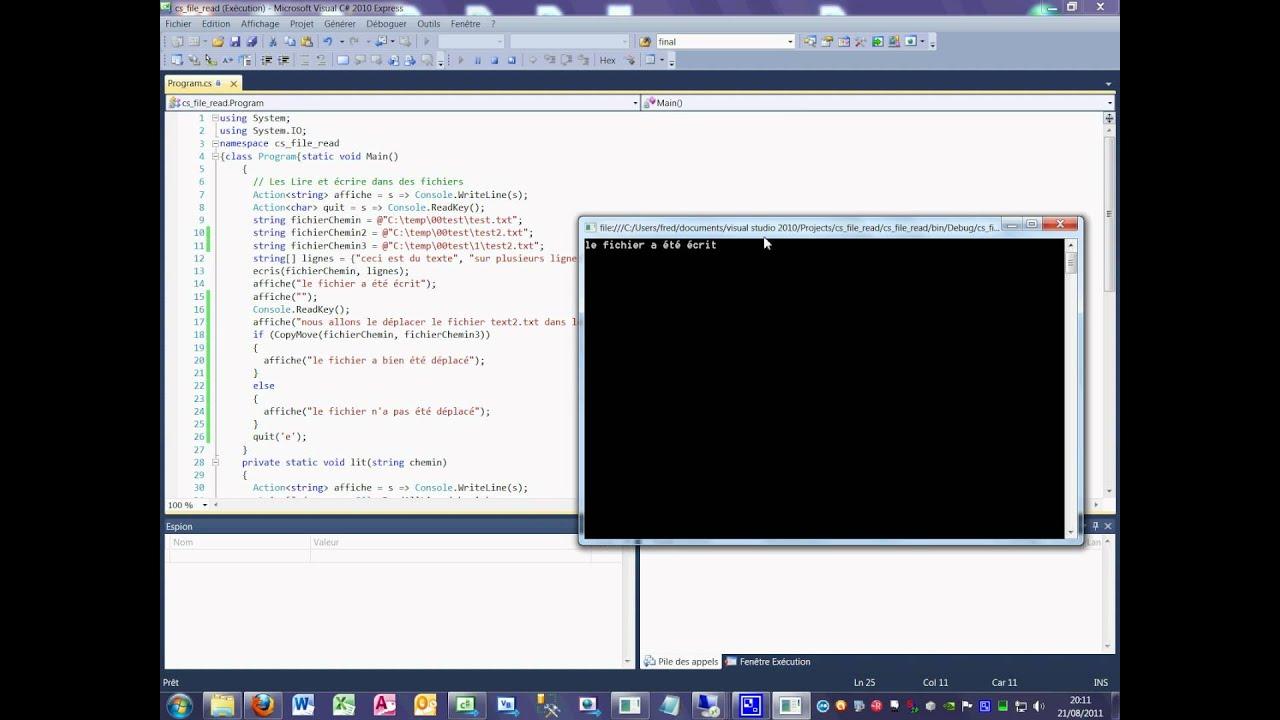 Tutoriel 38 File move en C# en français deuxième partie