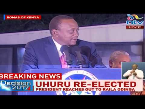 """President Kenyatta reaches out to his """"older brother"""" Raila Odinga with a hand of friendship"""