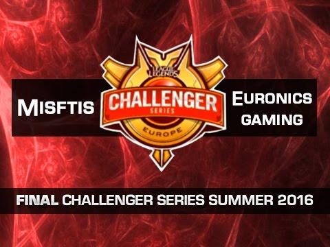 Misfits vs Euronics Gaming - Partida 1 - FINAL - Challenger Series EU Summer 2016 - Español
